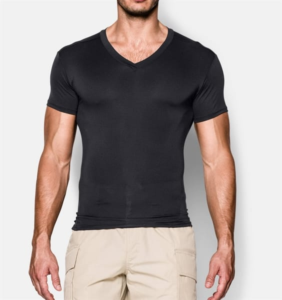 e7317acb9 Under Armour - Men's Tactical HeatGear Compression V-Neck Shirt   Gov't &  Military Discounts