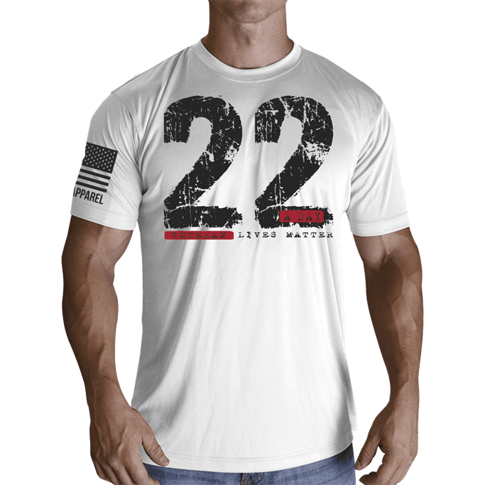 fb17a09c Nine Line Apparel - Men's Moisture Wicking 22 A Day T-Shirt ...