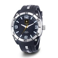 Picture of Men's U.S. Army C36 Watch - Black And White Dial - Black Rubber Strap
