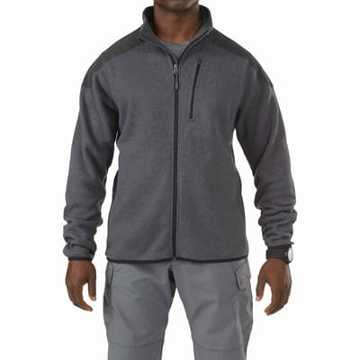 Picture of Men's Tactical Full Zip Sweater - Gun Powder - XL