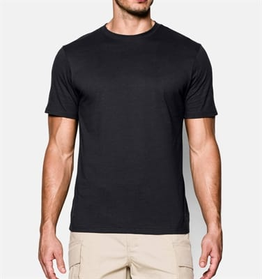 Picture of TAC Charged Cotton T-Shirt - Black/Black - S