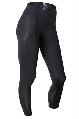 Picture of Women's Wide Waistband Compression Tights - Black/Dotted Black Logo - M