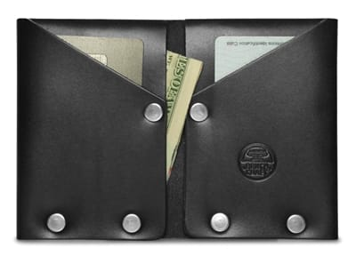 Picture of Hammer Riveted Wallet - Black Leather/Silver Rivets