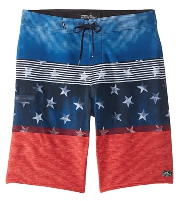 Picture of Men's Hyperfreak Boardshorts - Red White Blue - 32