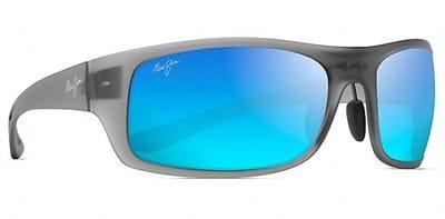 Picture of Big Wave Sunglasses - Translucent Matte Grey - Blue Hawaii