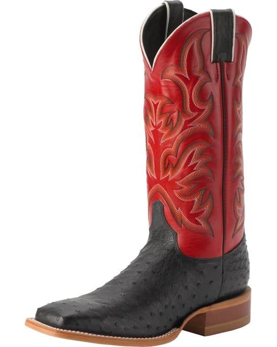 b79fada33d4 Justin Western Boots - Men's Pascoe Black Full Quill Boots ...