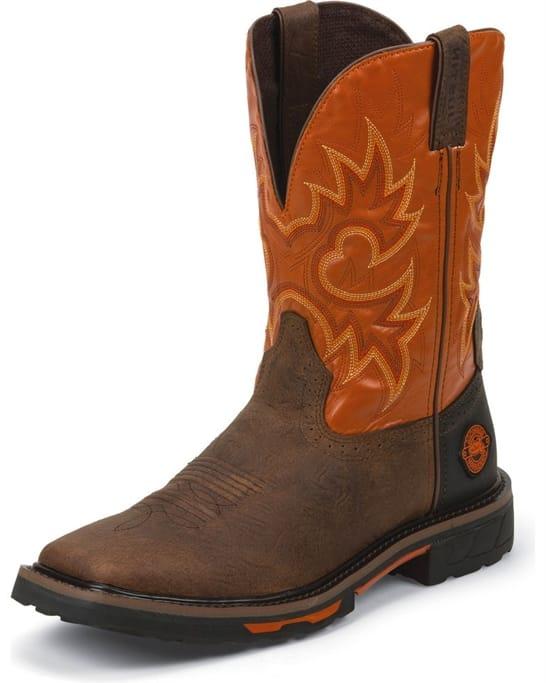fe044670855 Justin Original Workboots - Men's Rustic Barnwood Boots - WK4944 ...