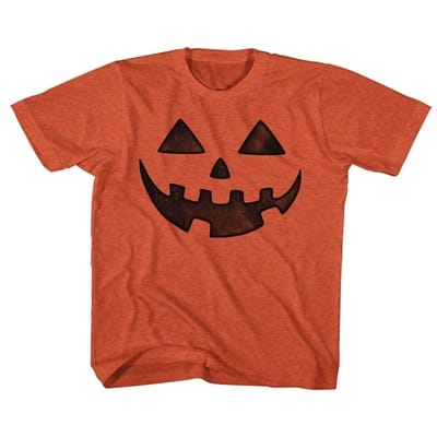 Picture of Kid's Jack-O-Lantern Face T-Shirt - Vintage Orange - 3T