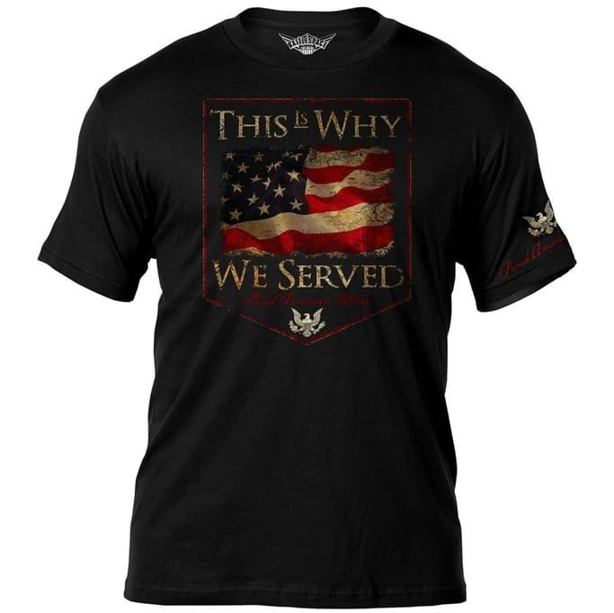 b9f1148049313 7.62 Design - Men s Veteran s Why We Serve T-Shirt Military Discount ...