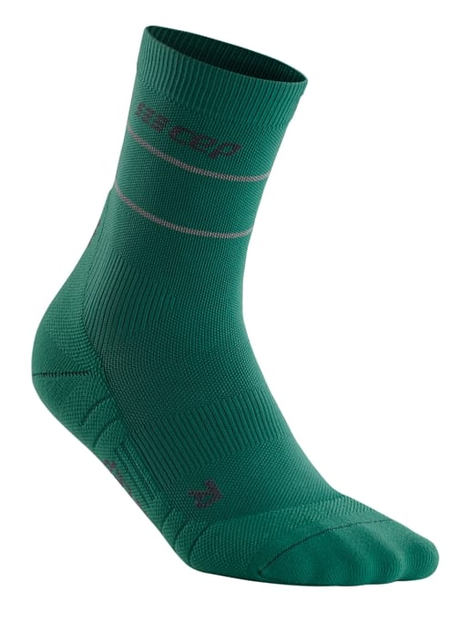 CEP Mens Mid-Cut Compression Wool Socks Allday Merino Athletic Mid-Cut Socks
